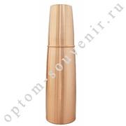 Аюрведическая медная бутылка и стакан, для обогащения воды, 1 л., Индия, оптом