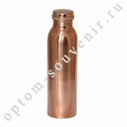 Аюрведическая медная бутылка, для обогащения воды, 1 л., Индия, оптом