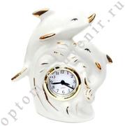 Часы ДЕЛЬФИНЫ, фарфор, оптом