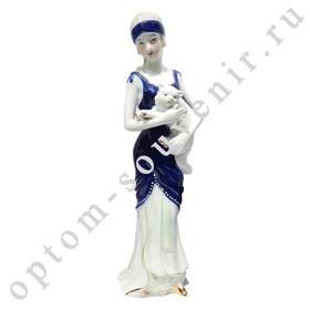 Фарфоровая статуэтка ДЕВУШКА И КОТ оптом