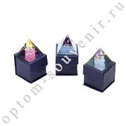 Хрустальная пирамида ЗНАКИ ЗОДИАКА, цветная, набор 12 шт., оптом
