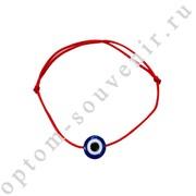 Браслет красная нить с подвеской ГЛАЗ, набор 24 шт., оптом