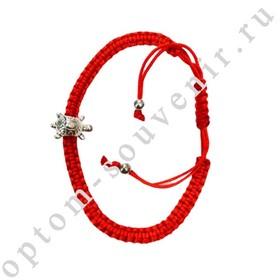 Браслет красная нить с подвеской ЧЕРЕПАХА, набор 12 шт., оптом