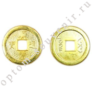 Монета БОГАТСТВО И УСПЕХ, 2,3 см., оптом