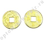 Монеты в кошелек БОГАТСТВО И УСПЕХ, 2 см., оптом